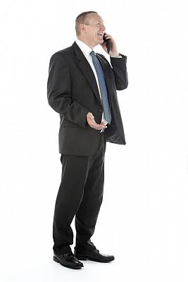 男商人,手机,专业经销商,套装,垂直画幅,电话机,忙碌,白人,男性,白色