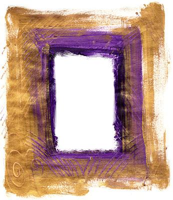 边框,黄金,涂料,金叶,美术效果,垂直画幅,留白,艺术家,风化的