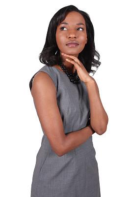 非洲人,女商人,垂直画幅,美,褐色,半身像,智慧,美人,非裔美国人,仅成年人