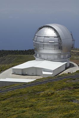 帕尔马,天文台,加那利群岛,垂直画幅,非都市风光,圆顶建筑,地形,银色,无人,大西洋群岛