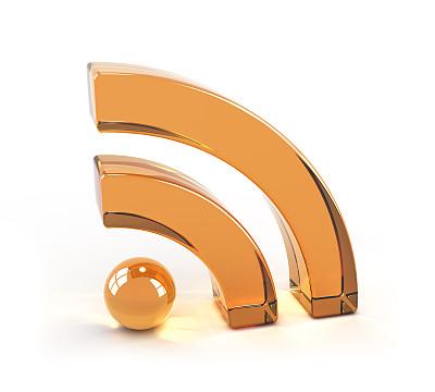 简易信息聚合,符号,玻璃,计算机图标,网络摘要,水平画幅,橙色,无人,色彩鲜艳,白色背景