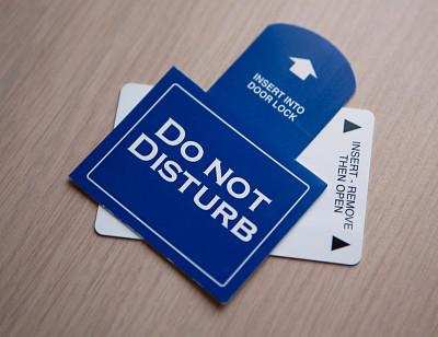 请勿打扰标志,汽车旅馆,概念,私密,水平画幅,寂寞,标志,酒店,摄影,旅行