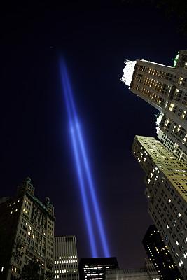 纽约,阿姆斯特丹世贸中心,纪念物,2006年,纪念守夜,纪念活动,垂直画幅,夜晚,无人,城市