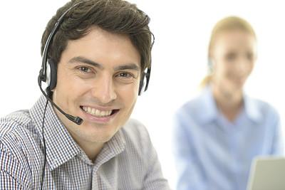 快乐,团队,办公室,30到39岁,笔记本电脑,耳麦,水平画幅,电话机,顾客,人群