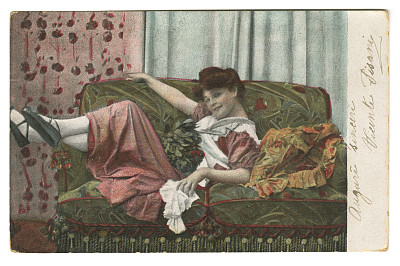 草图,女性特质,美,女人,古董,水平画幅,注视镜头,美人,古典式