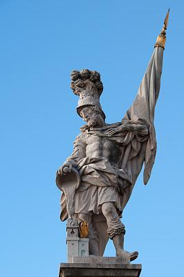 雕塑,罗马,萨尔茨堡,垂直画幅,纪念碑,天空,建筑,无人,喷泉,蓝色