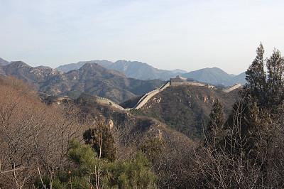 地形,水平画幅,墙,无人,砖墙,东亚,户外,要塞,北京市,国际著名景点