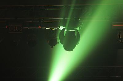 夜总会,照明设备,流行音乐会,舞台灯光,紫外线,舞台布景,水平画幅,绿色,无人,电灯