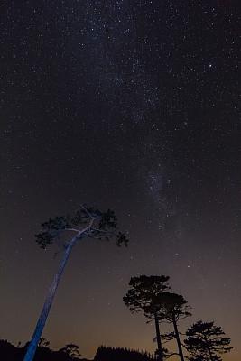 银河系,高大的,在上面,天体物理学,空间探索,天空,太空,灵性,星系,夜晚