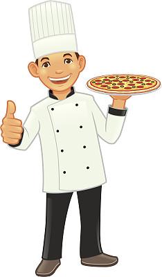 比萨饼,辣香肠披萨,披萨店,绘画插图,性格,莫扎瑞拉奶酪,制服,奶酪,卡通,餐饮服务职业