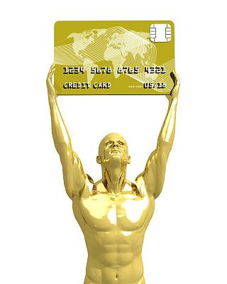 金卡,机械手,食指,垂直画幅,未来,四肢,举起手,信用卡,球体,技术