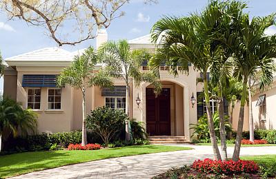 高雅,住房,美,水平画幅,全身像,豪宅,巨大的,房地产,房屋,佛罗里达