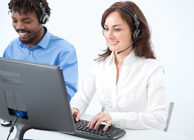 人群,呼叫中心,免提装置,服务业职位,男商人,男性,青年人,专业人员,录音设备,放音设备