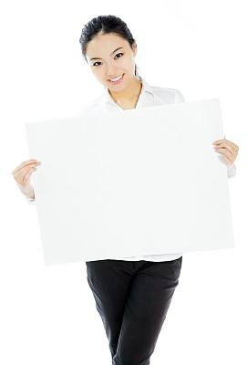 女商人,白色背景,分离着色,气促,垂直画幅,留白,半身像,黑发,仅成年人