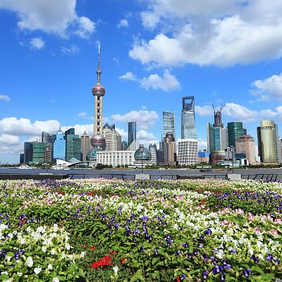 摩天大楼,上海,金茂大厦,东方明珠塔,外滩,黄浦区,浦东,天空,未来,东亚