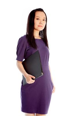 女人,白色背景,分离着色,档案管理员,垂直画幅,美,留白,注视镜头,美人,黑发