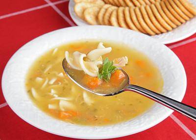 鸡肉面条汤,食品,鸡汤,图像聚焦技术,选择对焦,饮食,水平画幅,无人,膳食,健康保健