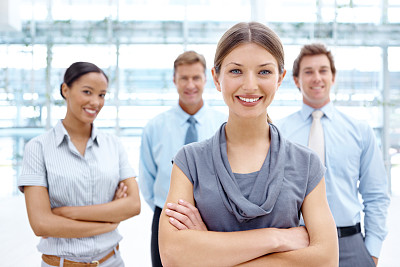 女人,团队,羊毛帽,办公室,美,留白,水平画幅,注视镜头,美人,人群