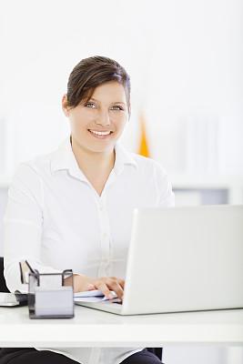 女人,2013,垂直画幅,办公室,美,30到39岁,笔记本电脑,注视镜头,美人,白人