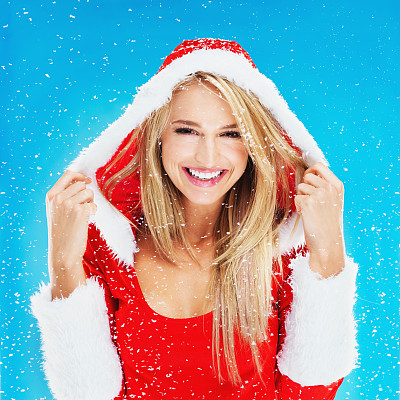 雪,仅成年人,青年人,冬天,信心,头像,风帽,茄克,仅一个女人,可爱的