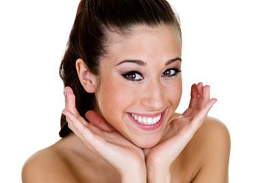 青少年,自然美,手指框,雀斑,正面视角,彩妆,spa美容,化妆用品,完美,仅成年人