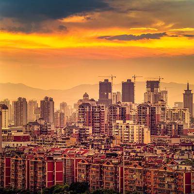 城市,浦东,天空,未来,夜晚,东亚,居住区,都市风景,现代,城镇