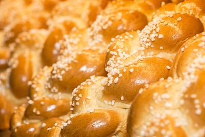 清新,杂碎,犹太教白面包,辫子面包,法式奶油蛋糕,水平画幅,酵母,烤面包,欧洲,黄油
