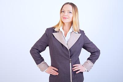女商人,正面视角,留白,套装,仅成年人,青年人,白色,专业人员,信心,公司企业