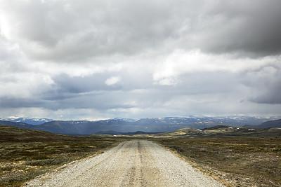 山,路,水平画幅,无人,苔藓,户外,湖,云景,斯堪的纳维亚半岛,地衣