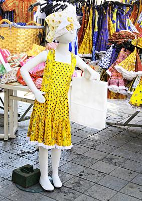 德龙省,街市,垂直画幅,夏天,普罗旺斯,外衣,货摊,彩色图片,传统服装,法国