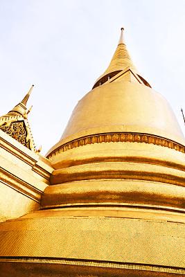 宝塔,垂直画幅,黄金,建筑,无人,泰国,曼谷,佛教,寺庙,亚洲