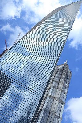 上海,摩天大楼,金茂大厦,外滩,黄浦区,浦东,垂直画幅,天空,未来,工作场所