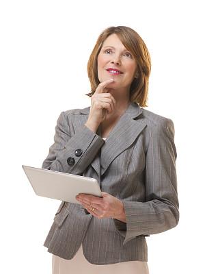 女商人,垂直画幅,留白,领导能力,半身像,电子邮件,图像,经理,仅成年人,网上冲浪