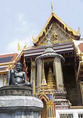 玉佛寺,拉那风景饭店,灵性,无人,异国情调,户外,僧院,泰国,佛教,佛