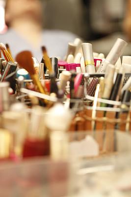彩妆,化妆用品,多样,商品,眼线笔,混沌,女性特质,垂直画幅,美,留白