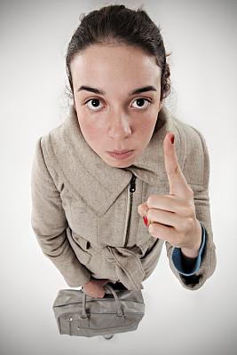 女孩,垂直画幅,青少年,行李,白人,青年人,成年的,外套,商务,生气