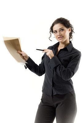 文档,看,垂直画幅,办公室,美,注视镜头,工作场所,美人,图像,经理