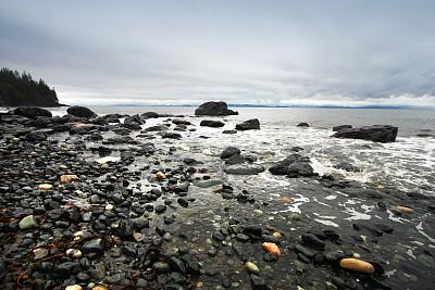温哥华岛,自然,水,水平画幅,地形,岩石,无人,户外,大不列颠哥伦比亚,海洋