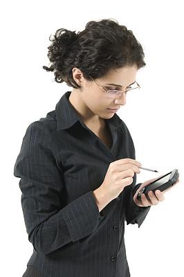 女人,掌上电脑,垂直画幅,办公室,电子记事本,仅成年人,青年人,个人备忘录,彩色图片,仅一个青年女人