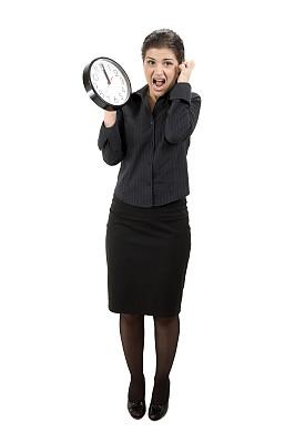 女人,绝望,时间,垂直画幅,图像,钟,经理,仅成年人,想法,青年人