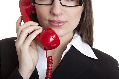 女商人,组图,水平画幅,电话机,人的嘴,古典式,白人,it技术支持,仅成年人,眼镜