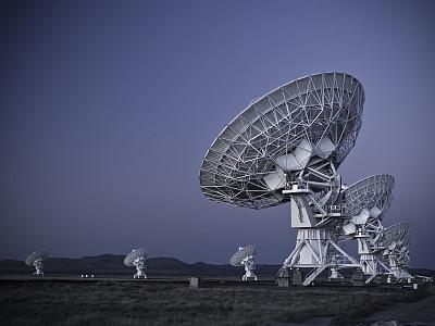 天文台,太空,交通标志,国家射电天文学气象台,射电望远镜,卫星天线,天空,留白,美国,水平画幅