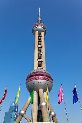 东方明珠塔,浦东,上海,柏林电视塔,垂直画幅,纪念碑,无人,东亚,户外,都市风景