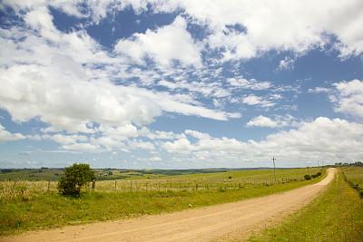 乌拉圭,地形,海上航道,美,水平画幅,山,云景,消失点,农业,自然