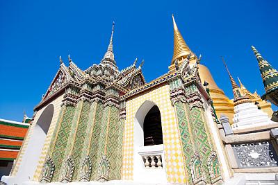 水平画幅,无人,异国情调,班戈寇科省,泰国,佛塔,东南亚,佛,彩色图片