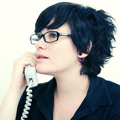 办公室,美,电话机,顾客,秘书,现代,培训课,青年人,专业人员,技术
