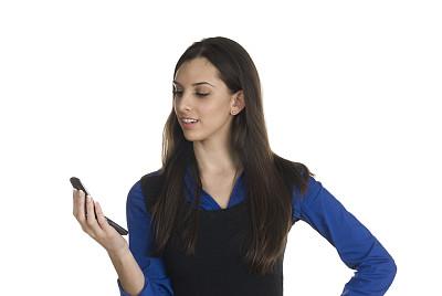女人,电话留言,看,美,水平画幅,电话机,消息,美人,商务会议,青年女人