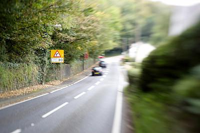 交通,盲人,图像聚焦技术,选择对焦,水平画幅,交通标志,路,陆用车,运动模糊,户外