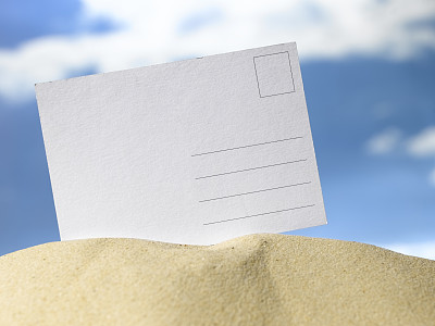 明信片,天空,空白的,留白,海滩,水平画幅,沙子,无人,云,背景