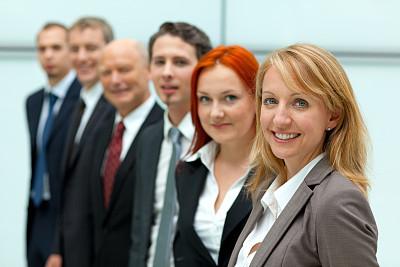 商务,女人,快乐,前面,团队,办公室,领导能力,水平画幅,人群,商务会议